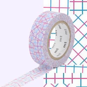 Bandă decorativă Washi MT Masking Tape Genevieve, rolă 10 m de la MT Masking Tape