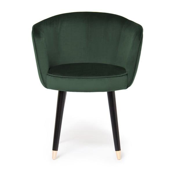 Sada 2 tmavě zelených židlí Vivonita Valerie