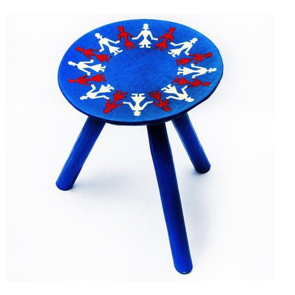 Ručně malovaná stolička Bod, 38 cm