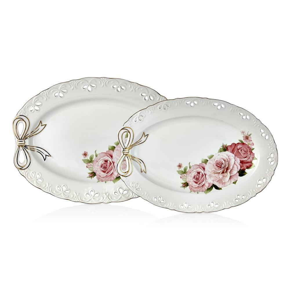 Sada 2 porcelánových talířů Dina