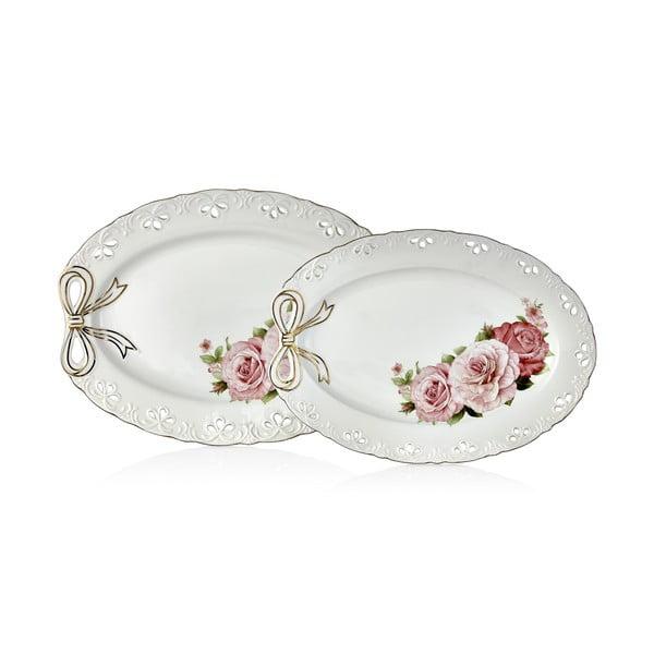 Zestaw 2 talerzy porcelanowych Dina
