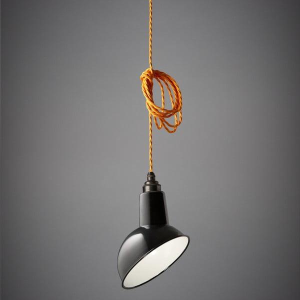 Závěsné světlo Miniature Angled Cloche Black/Orange