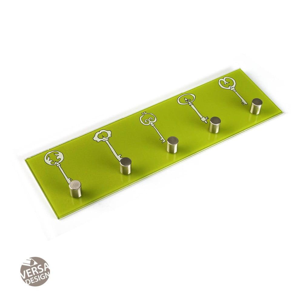 Zelený nástěnný věšák na klíče Versa Llaves