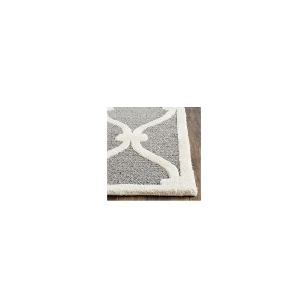 Vlněný koberec Hugo 121x182 cm, šedý
