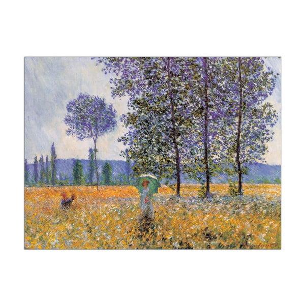 Obraz Monet - Felder in Frühling, 80x60 cm