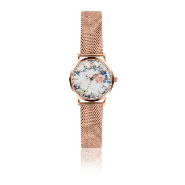 Dámske hodinky s remienkom z antikoro ocele v ružovozlatej farbe Emily Westwood Malia