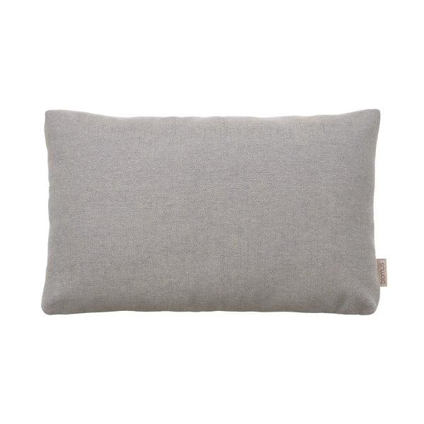 Sivohnedý bavlnený poťah na vankúš Blomus, 60 x 40 cm
