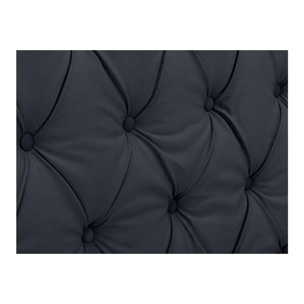 Ocelově šedé čelo postele Windsor & Co Sofas Queen, 196 x 120 cm
