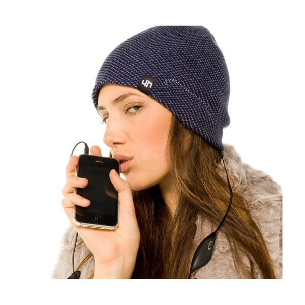Hi-Head Zimní čepice se sluchátky, černá