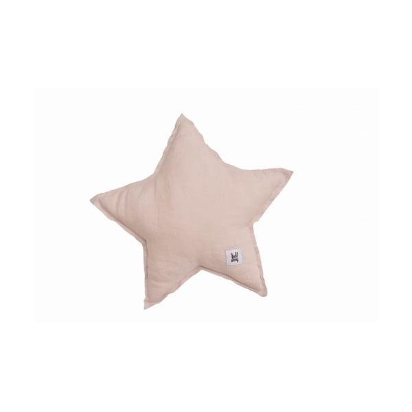 Różowa lniana poduszka dziecięca w kształcie gwiazdki BELLAMY Dusty Pink