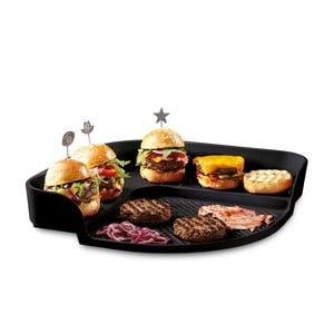 Tác na burgery Emile Henry, černý