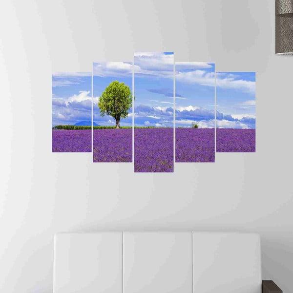 5dílný obraz Lavender