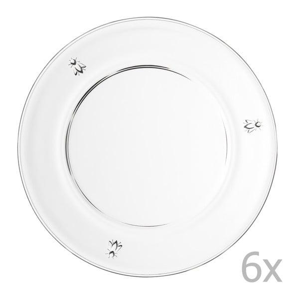 Sada 6 talířů Abeille, 25 cm