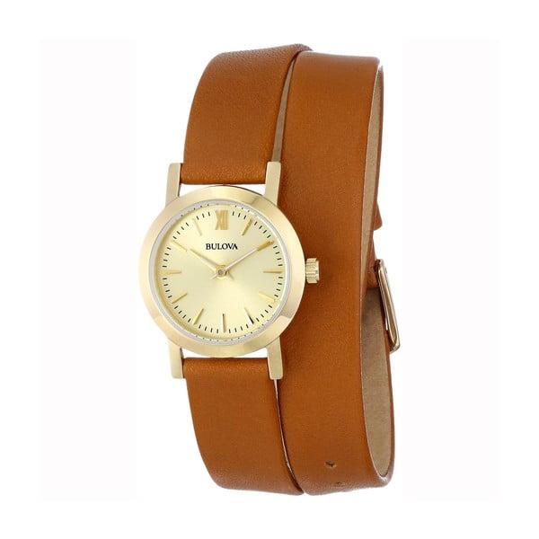 Dámské hodinky Bulova 97135 Yellow Gold/Brown