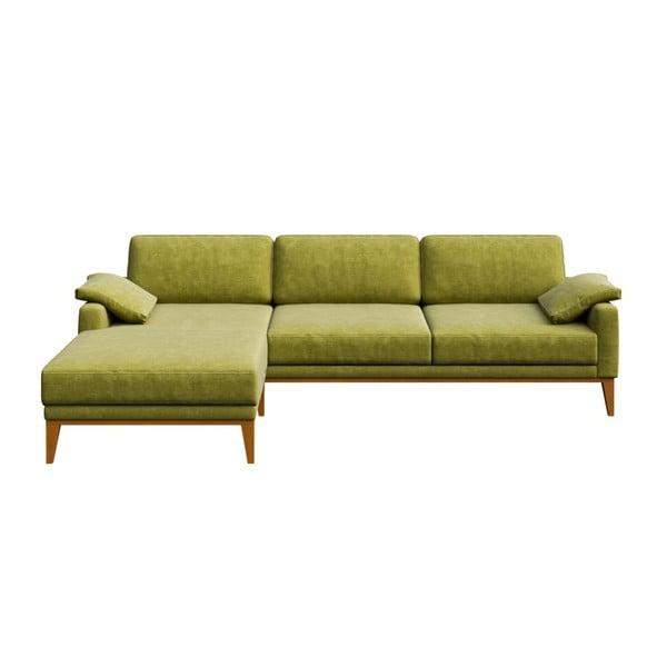 Zelená pohovka s lenoškou na levé straně MESONICA Musso