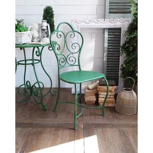 Kovová židle Shabby Green