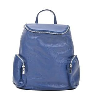 Modrý kožený batoh Luisa Vannini Kuhma