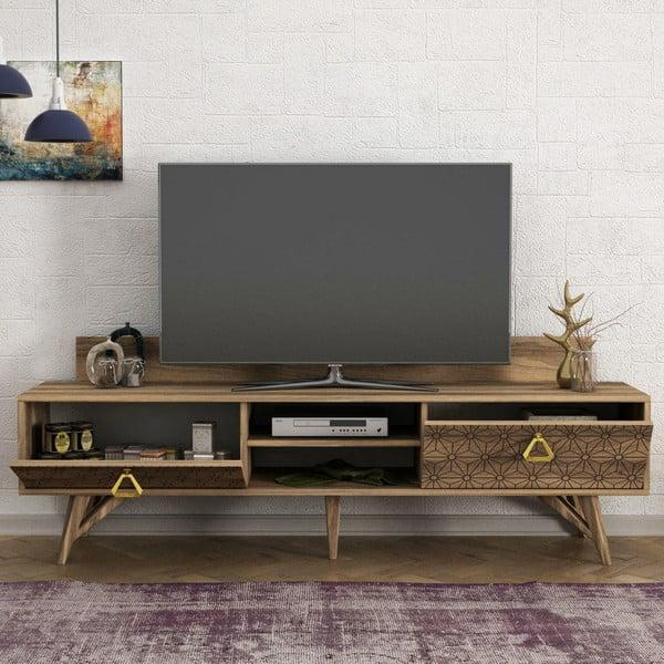 Szafka pod TV w dekorze drewna orzecha Yakamoz