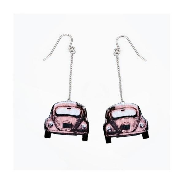 Náušnice s růžovým autíčkem od Lucie Markové