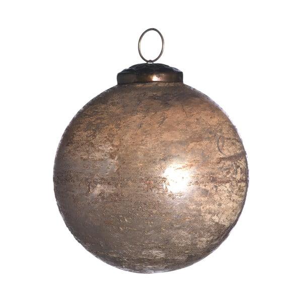 Set šesti skleněných ozdob, Artifact, 10 cm, zlatá