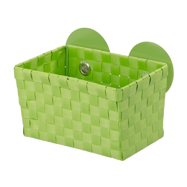 Coșuleț cu ventuze Wenko Fermo, verde