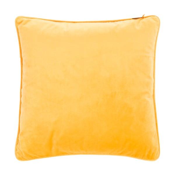 Velvety sárga díszpárna, 45 x 45cm - Tiseco Home Studio