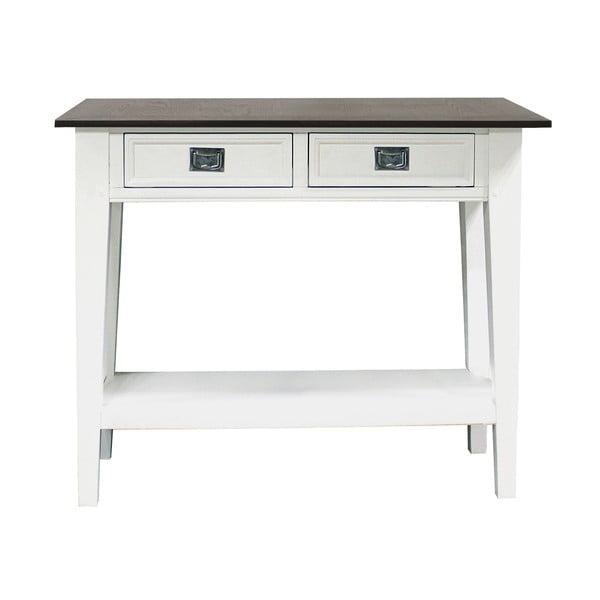 Bílý příruční stolek Canett Skagen Console, 2 zásuvky