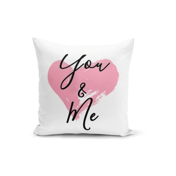 Față de pernă Minimalist Cushion Covers You & Me Heart, 45 x 45 cm