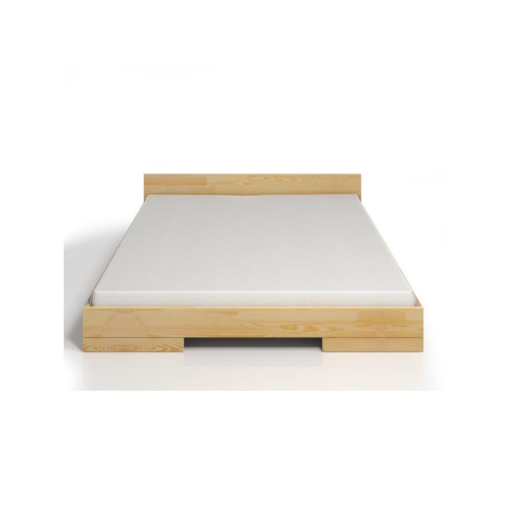 Fotografie Dvoulůžková postel z borovicového dřeva SKANDICA Spectrum, 200x200cm