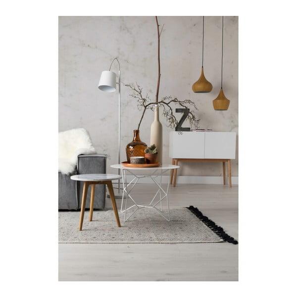 Odkládací stolek s deskou v dekoru kamene Zuiver, ⌀40cm