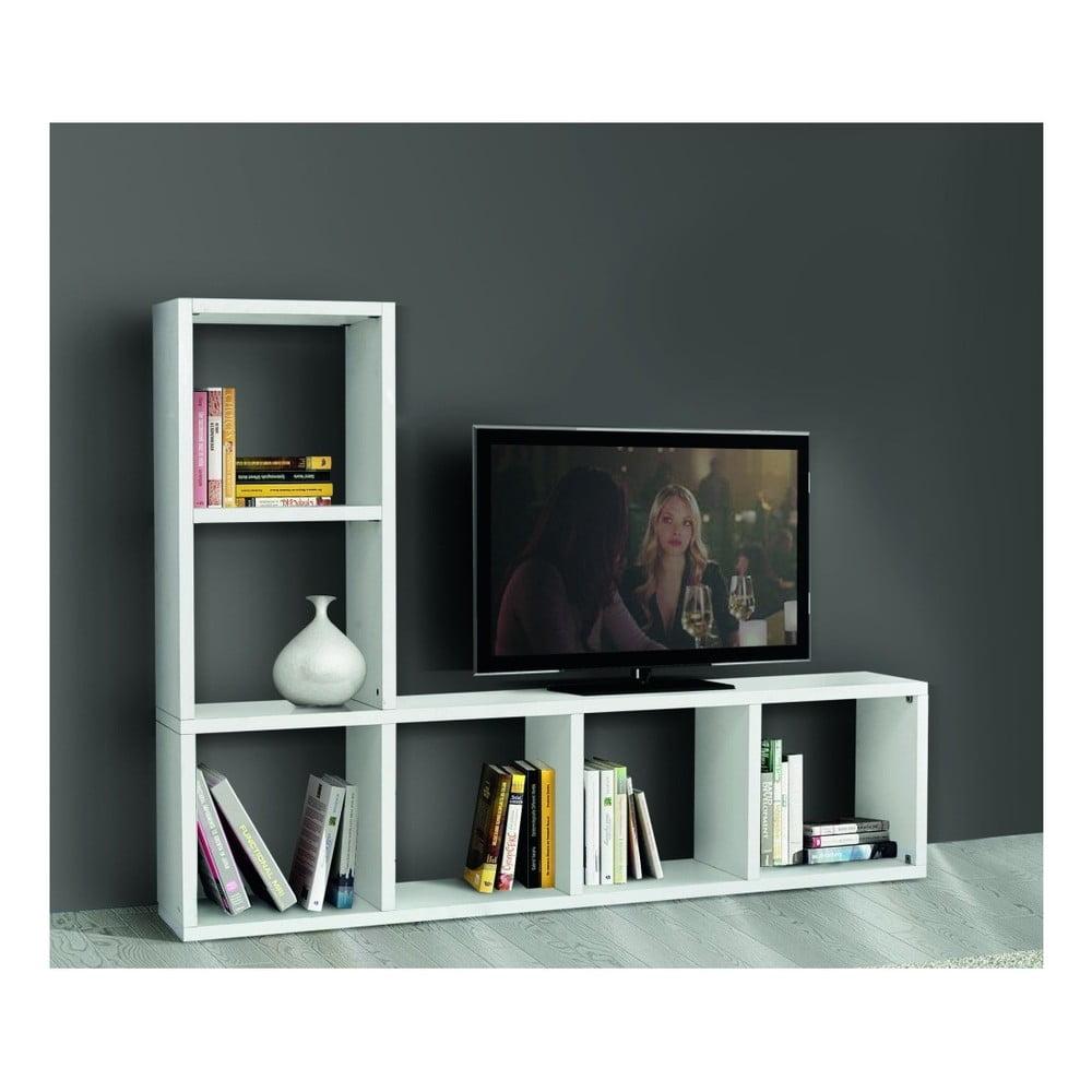 Bílý TV stolek Castagnetti Cube