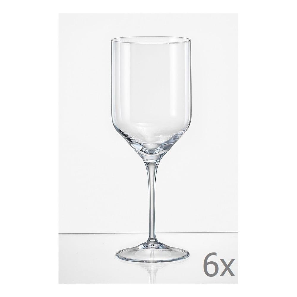 Sada 6 sklenic na víno Crystalex Uma, 400 ml