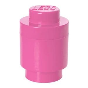Úložný kulatý boxík, růžový