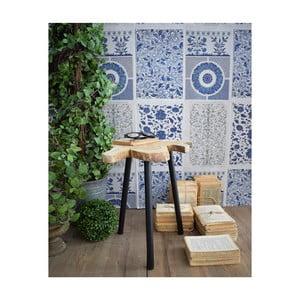Odkládací stolek z teakového dřeva Orchidea Milano Country, ø40cm