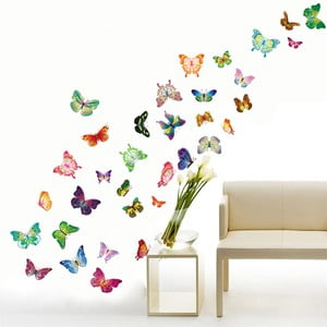 Autocolant Walplus Happy Butterflies
