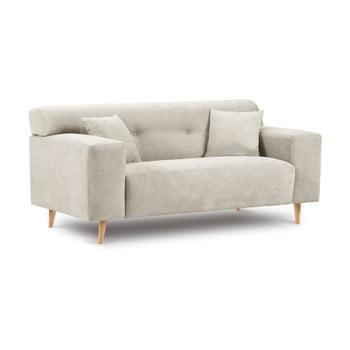 Canapea cu 2 locuri Kooko Home Twist, bej