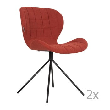 Set 2 scaune Zuiver OMG, roșu de la Zuiver