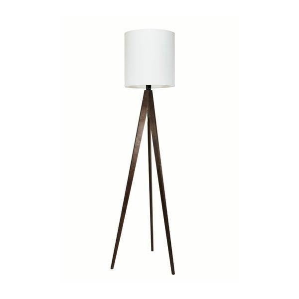 Bílá stojací lampa 4room Artist, černá lakovaná bříza, 158 cm