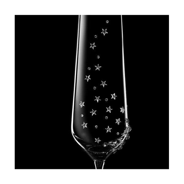 Sada 2 šampaňských fléten Hera se Swarovski Elements v luxusním balení