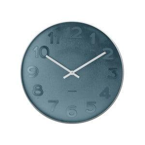 Ceas de perete mic Present Time Mr. Black, albastru