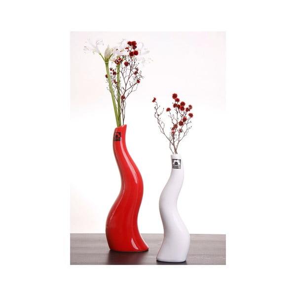Váza Cele 27 cm, červená
