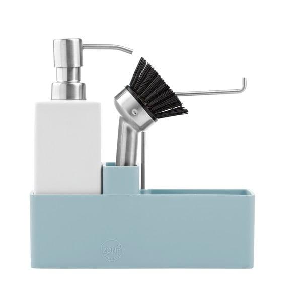 Třídílná sada na mytí nádobí, světle modrá
