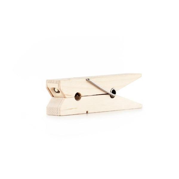 Latarka z drewna bukowego w kształcie klamerki do bielizny Kikkerland Clip