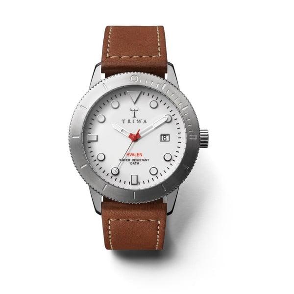 Unisex hodinky s hnědým koženým řemínkem Triwa Ivory Hvalen Ivory