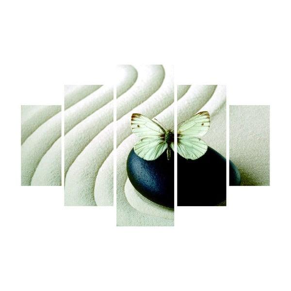 Obraz wieloczęściowy Sand Butterfly 92x56 cm