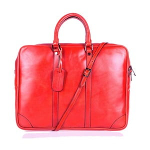 Červená kožená taška přes rameno Italia in Progress Donatello