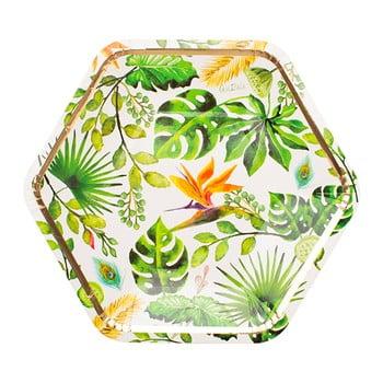 Set 8 farfurii din hârtie GiviItalia Golden Jungle, ⌀ 23 cm imagine