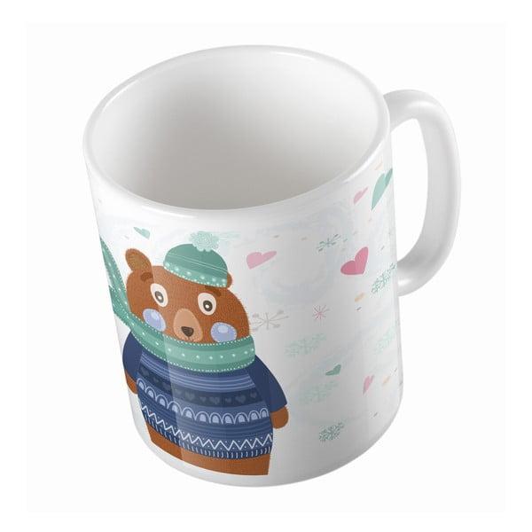 Keramický hrnek Bear in Jumper, 330 ml