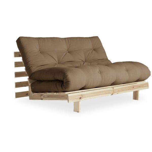 Canapea extensibilă Karup Design Roots Raw/Mocca, maro