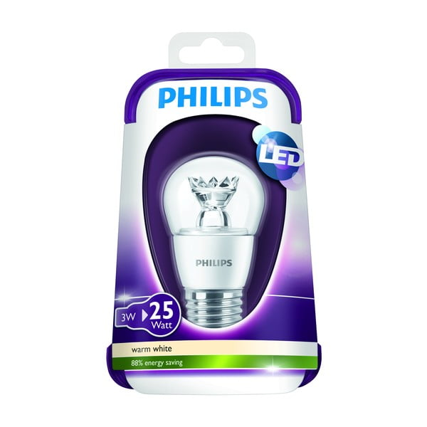 Žárovka Philips 3W (25W) E27, Warm White